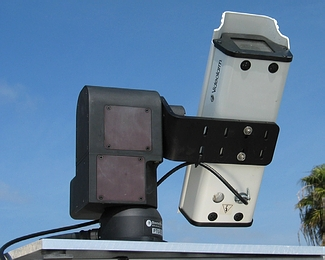 [b]Figure 1[/b]: BioTRACKER being tested with a video camera. The pictures were used to evaluate pointing accuracy and sun-tracking software.
