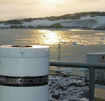 GUV radiometer installed at Palmer Station, Antarctica.