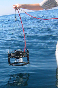 BIR in lowering frame deployed from a boat