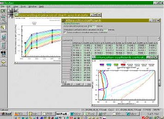 Screen shot of PROFILER software